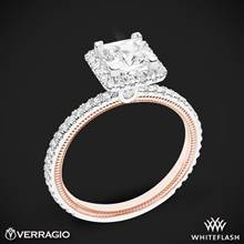 14k White Gold Two Tone Verragio Tradition TR120HP-2T Diamond Princess Halo Engagement Ring   Whiteflash