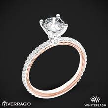 14k White Gold Two Tone Verragio Tradition TR120R4-2T Diamond 4 Prong Engagement Ring | Whiteflash