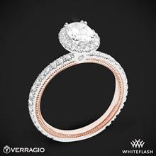 14k White Gold Two Tone Verragio Tradition TR150HOV-2T Diamond Oval Halo Engagement Ring | Whiteflash