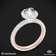 14k White Gold Two Tone Verragio Tradition TR150HR-2T Diamond Round Halo Engagement Ring | Whiteflash