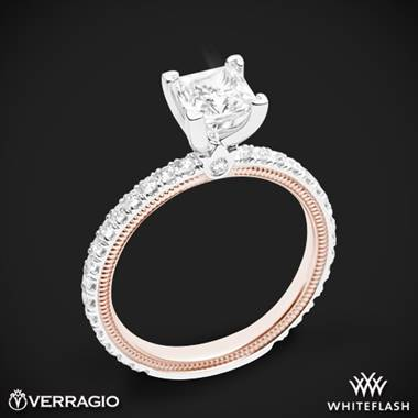 14k White Gold Two Tone Verragio Tradition TR150P4-2T Diamond 4 Prong Engagement Ring