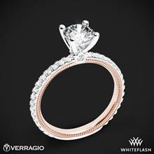 14k White Gold Two Tone Verragio Tradition TR150R4-2T Diamond 4 Prong Engagement Ring | Whiteflash
