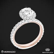 14k White Gold Two Tone Verragio Tradition TR180HOV-2T Diamond Oval Halo Engagement Ring | Whiteflash