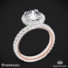 14k White Gold Two Tone Verragio Tradition TR180HR-2T Diamond Round Halo Engagement Ring | Whiteflash