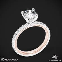 14k White Gold Two Tone Verragio Tradition TR180R4-2T Diamond 4 Prong Engagement Ring | Whiteflash