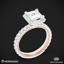 14k White Gold Two Tone Verragio Tradition TR210HP-2T Diamond Princess Halo Engagement Ring | Whiteflash