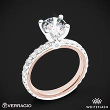 14k White Gold Two Tone Verragio Tradition TR210R4-2T Diamond 4 Prong Engagement Ring | Whiteflash
