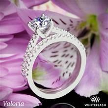 14k White Gold Valoria Cathedral Diamond Wedding Set   Whiteflash
