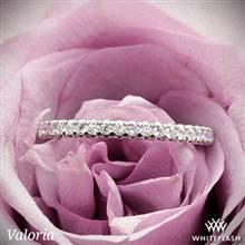 14k White Gold Valoria Cathedral French-Set Diamond Wedding Ring | Whiteflash