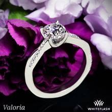 14k White Gold Valoria Flora Twist Diamond Engagement Ring | Whiteflash