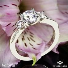 14k White Gold Valoria Flora Twist Three Stone Diamond Engagement Ring   Whiteflash