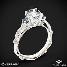 14k White Gold Verragio Parisian CL-DL-129R Twisted Sapphire 3 Stone Engagement Ring | Whiteflash