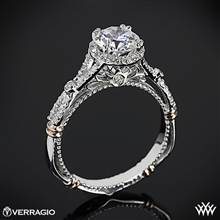 14k White Gold Verragio Parisian D-109R Twisted Split Shank Diamond Engagement Ring | Whiteflash