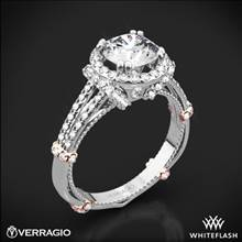 14k White Gold Verragio Parisian DL-117R Dual Claw Split Shank Halo Diamond Engagement Ring | Whiteflash
