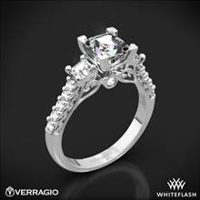 14k White Gold Verragio Renaissance 904P5 3-Stone Diamond Engagement Ring for Princess | Whiteflash