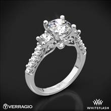 14k White Gold Verragio Renaissance 905R6 3-Stone Diamond Engagement Ring | Whiteflash