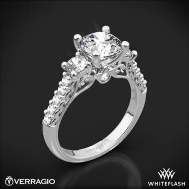 14k White Gold Verragio Renaissance 905R6 3-Stone Diamond Engagement Ring