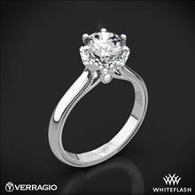 14k White Gold Verragio Renaissance 939R7 Solitaire Engagement Ring | Whiteflash