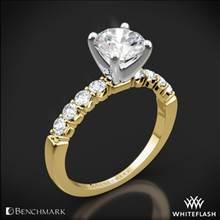 14k Yellow Gold Benchmark CSP4 Crescent Diamond Engagement Ring | Whiteflash
