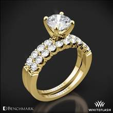 14k Yellow Gold Benchmark CSP4 Crescent Diamond Wedding Set | Whiteflash