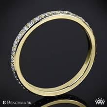14k Yellow Gold Benchmark Full Eternity Diamond Wedding Ring | Whiteflash