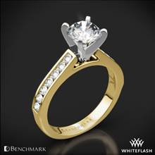 14k Yellow Gold Benchmark HCC2 Channel-Set Diamond Engagement Ring | Whiteflash