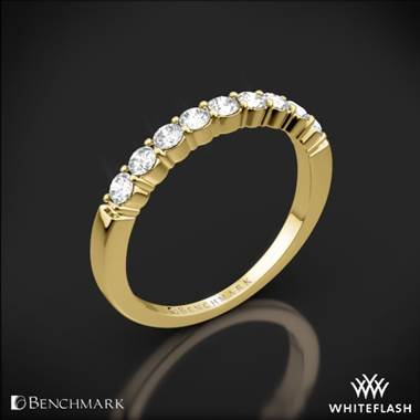 14k Yellow Gold Benchmark Shared-Prong Diamond Wedding Ring