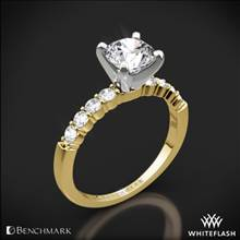 14k Yellow Gold Benchmark SP4 Shared-Prong Diamond Engagement Ring | Whiteflash