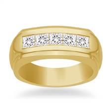 14K Yellow Gold Channel-Set Men's Diamond Band (1.00 cttw.) | B2C Jewels