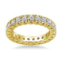 14K Yellow Gold Four Prong Diamond Eternity Ring (1.40 - 1.68 cttw.) | B2C Jewels