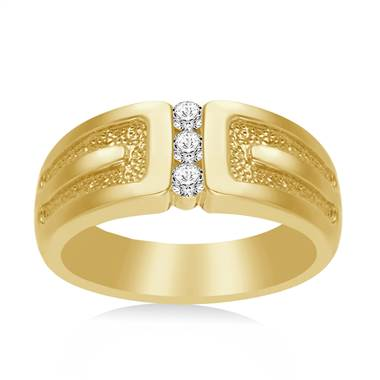 14K Yellow Gold Men's Diamond Band (1/4 cttw.)