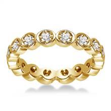14K Yellow Gold Pave Set Diamond Eternity Ring (0.32 - 0.38 cttw.)   B2C Jewels