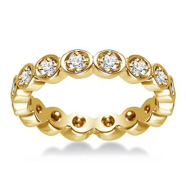 14K Yellow Gold Prong Set Diamond Eternity Ring (0.32 - 0.38 cttw.)