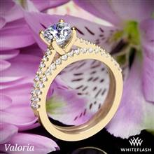14k Yellow Gold Valoria Cathedral Diamond Wedding Set | Whiteflash
