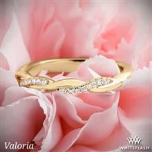 14k Yellow Gold Valoria Flora Twist Matching Diamond Wedding Ring | Whiteflash