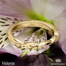 14k Yellow Gold Valoria Flora Twist Matching Solitaire Wedding Ring | Whiteflash