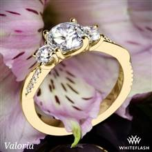 14k Yellow Gold Valoria Flora Twist Three Stone Diamond Engagement Ring   Whiteflash
