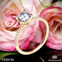 14k Yellow Gold Valoria Micropave Diamond Engagement Ring   Whiteflash