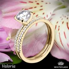 14k Yellow Gold Valoria Micropave Diamond Wedding Set | Whiteflash