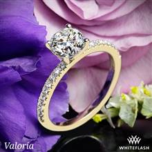 14k Yellow Gold Valoria Petite Pave Diamond Engagement Ring | Whiteflash