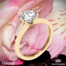 14k Yellow Gold Valoria Petite Six Prong Solitaire Engagement Ring | Whiteflash