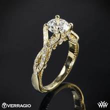 14k Yellow Gold Verragio INS-7060 Intertwined Diamond Engagement Ring | Whiteflash