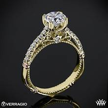 14k Yellow Gold Verragio Parisian D-103S Diamond Engagement Ring | Whiteflash