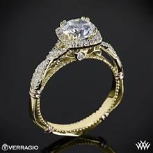 14k Yellow Gold Verragio Parisian D-106CU Halo Diamond Engagement Ring | Whiteflash