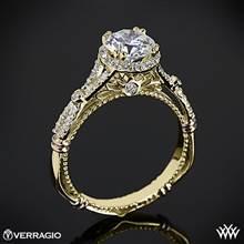 14k Yellow Gold Verragio Parisian D-109R Halo Diamond Engagement Ring | Whiteflash