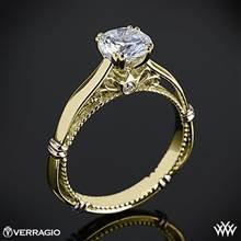 14k Yellow Gold Verragio Parisian D-120 Solitaire Engagement Ring | Whiteflash