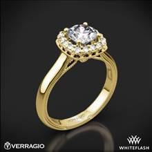 14k Yellow Gold Verragio Renaissance 924CU Solitaire Engagement Ring | Whiteflash