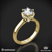 14k Yellow Gold Verragio Renaissance 939R7 Solitaire Engagement Ring | Whiteflash