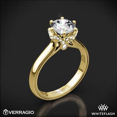 14k Yellow Gold Verragio Renaissance 939R7 Solitaire Engagement Ring