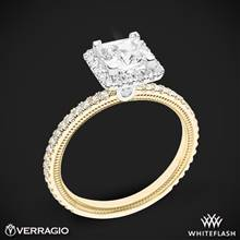 14k Yellow Gold with White Gold Head Verragio Tradition TR120HP Diamond Princess Halo Engagement Ring | Whiteflash